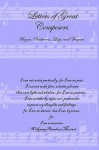 Letters of Great Composers: Mozart, Beethoven, Liszt, and Wagner - Lulu Press, Richard Liszt Mozart