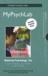 New Mypsychlab with Peason Etext -- Standalone Access Card -- For Abnormal Psychology - James N. Butcher