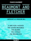 Beaumont & Fletcher's Works Volume 5 (of 10): A Wife for a Month -- The Lovers Progress -- The Pilgrim -- The Captain -- The Prophetess (Beaumont & Fletcher's Works Series) - Francis Beaumont, John Fletcher, Alfred Rayney Waller