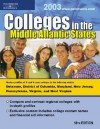 Regional Guide: Middle Atlantic 2003 (Peterson's Colleges in the Middle Atlantic States, 18th ed) - Petersons Publishing