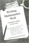 Writing Mathematics Well - Leonard Gillman