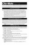 Cite-Mate Citation Guide - Deborah E. Bouchoux