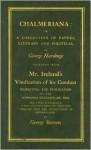 Chalmeriana and Mr Ireland Vind (Eighteenth Century Shakespeare) - George Hardinge, George Steevens