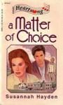 A Matter of Choice - Susannah Hayden