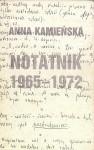Notatnik 1965-1972 - Anna Kamieńska