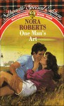 One Man's Art (MacGregors #7) (Silhouette Special Plaid Reissue) - Nora Roberts
