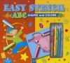 Easy Stencil ABC: Shapes and Colors [With 4 Colored Pencils] - Yoyo Books
