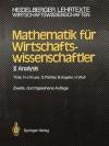 Mathematik Fur Wirtschaftswissenschaftler: Analysis (2., Durchges. Aufl.) - Tomas Gal, Hermann-Josef Kruse, Gabriele Piehler