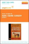 Equine Surgery - Pageburst E-Book on Vitalsource (Retail Access Card) - Jorg A. Auer, John A. Stick