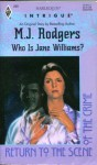 Who Is Jane Williams? (Harlequin Intrigue, No 290) - M.J. Rodgers