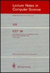 Icdt'86 - G. Ausiello