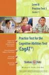 Cognitive Abilities Test CogAT® Multilevel B Book (Grade 3*) - Practice Test 1 (Form 6) - Mercer Publishing