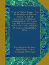 Trial of John Jasper for th murder of Edwin Drood; in aid of Samaritan, Children's homeopathic, St. Agnes and Mt. Sinai hospitals, April 29, 1914, Academy of music, Philadelphia, U.S.A - Philadelphia Dickens fellowship, John Morrison Patterson