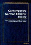 Contemporary German Editorial Theory - Hans Walter Gabler, Hans Walter Gabler, George Bornstein