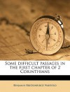Some Difficult Passages in the First Chapter of 2 Corinthians - Benjamin Breckinridge Warfield
