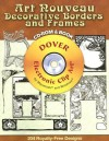 Art Nouveau Decorative Borders and Frames CD-ROM and Book - Carol Belanger Grafton