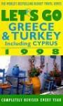 Let's Go Greece & Turkey 1998 - Let's Go Inc.