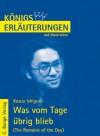 Königs Erläuterungen und Materialien, Bd.453, Was vom Tage übrig blieb - Kazuo Ishiguro