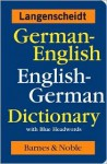 German-English English-German Dictionary with Blue Headwords - Langenscheidt