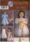 Simplicity 9560 - 18-Inch Dolls - Vintage Clothes - Fancy Frocks - Susan Payne