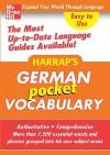 Harrap's German Pocket Vocabulary - Harrap's Publishing