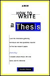 How to Write a Thesis - Harry Teitelbaum