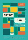 """They Say / I Say"": The Moves That Matter in Academic Writing, with Readings (Third Edition) - Gerald Graff, Cathy Birkenstein, Russel Durst"