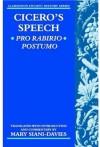 Cicero's Speech Pro Rabirio Postumo (Clarendon Ancient History Series) - Cicero, Mary Siani-Davies