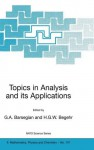 Topics in Analysis and Its Applications - Grigor A. Barsegian, Heinrich G.W. Begehr