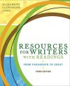 Resources for Writers with Readings: From Paragraph to Essay [With Access Code] - Elizabeth C. Long