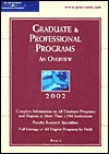 Peterson's Graduate And Professional Programs 2002 - Petersons Publishing