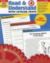Read & Understand with Leveled Texts, Grade 4 - Martha Cheney
