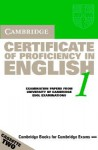 Cambridge Certificate of Proficiency in English 1: Examination Papers from the University of Cambridge ESOL Examinations - Cambridge University Press