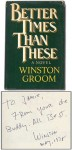 Better times than these: A novel - Winston Groom