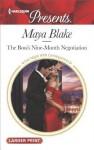 The Boss's Nine-Month Negotiation - Maya Blake