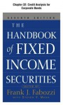 The Handbook of Fixed Income Securities, Chapter 32 - Credit Analysis for Corporate Bonds - Frank J. Fabozzi