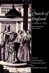 The Church of England C.1689 C.1833: From Toleration to Tractarianism - John Walsh, Colin Haydon