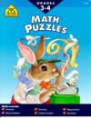 Math Puzzles, Grades 3-4 - School Zone Publishing Company, Marc Tyler Nobleman