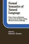 Formal Semantics of Natural Language - Edward L. Keenan