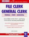 File Clerk/General Clerk 9th ed (Arco Civil Service Test Tutor) - John C. Czukor, Arco