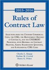 Rules of Contract Law 2015-2016 - Charles L. Knapp, Nathan M. Crystal, Harry G. Prince