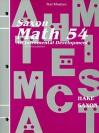 TEST MASTERS Hake Saxon MATH 54 Second Edition (Saxon Math) - Stephen Hake, John H. Saxon Jr.