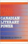 Canadian Literary Power - Frank Davey, Smaro Kamboureli