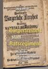 Bürgerfreiheit statt Ratsregiment: Das Manifest der bürgerlichen Freiheit und der Kampf für Demokratie in Hamburg um 1700 - Jörg Berlin