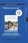 New Myeducationlab with Pearson Etext -- Standalone Access Card -- For Learning and Teaching: Research-Based Methods - Don P. Kauchak, Paul Eggen