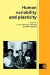 Human Variability and Plasticity - C.G. Nicholas Mascie-Taylor