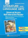 California Holt Literature and Language Arts: Universal Access Holt Interactive Reader: Introductory Course - Isabel L. Beck