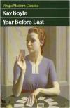 Year Before Last - Kay Boyle