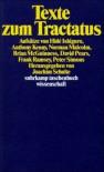 Suhrkamp Taschenbuch Wissenschaft Nr. 771: Texte zum Tractatus : Aufsätze - Hide Ishiguro