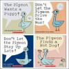 Pigeon Pack (4 Book Set) (The Pigeon Finds a Hot Dog!; Don't Let Pigeon the Stay Up Late!; The Pigeon Wants a Puppy!; Don't Let the Pigeon Drive the Bus!) - Mo Willems